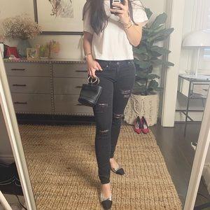 paige distressed black jeans